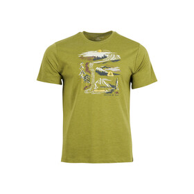 United By Blue Riverbend T-shirt à motif Homme, lilypad green